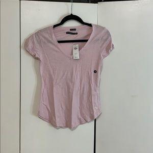 A&F v-neck pink women's XS